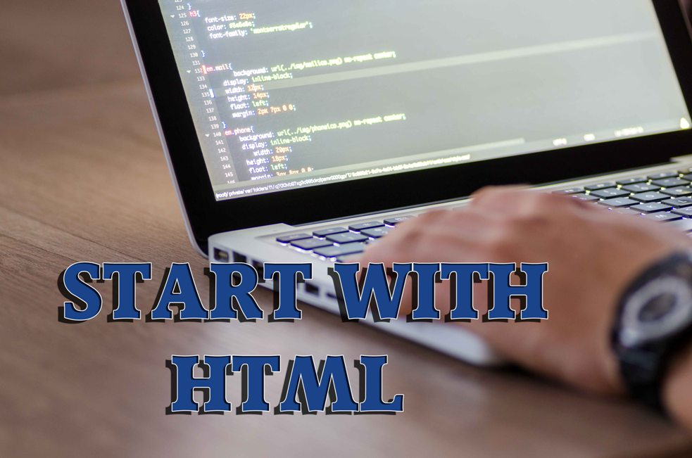 picture to start web development with html