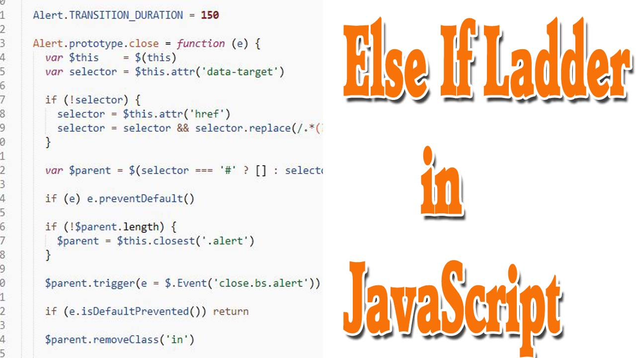 use of else if ladder in javascript