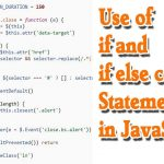 if and if else statements in javascript