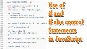 Control Statements in JavaScript | Use of If Else in JavaScript