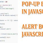 Use of popup boxes in javascript