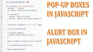 Use of Pop Up Boxes in JavaScript | Use of Alert Box in JavaScript
