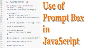 Use of Prompt Box in JavaScript | Use of JavaScript with HTML