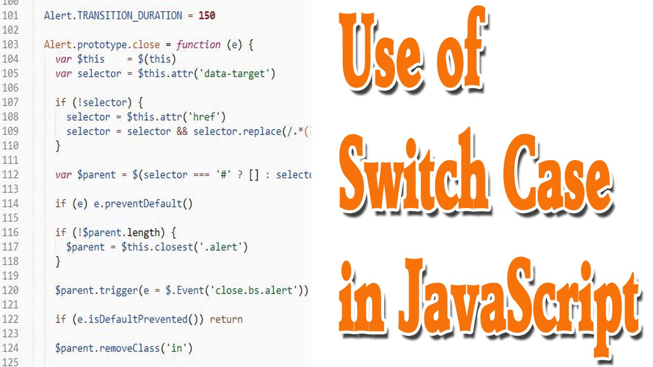 use of switch case in javascript