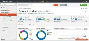 Picture of SEMRUSH for free digital marketing tools
